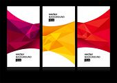 image of letterhead  - Abstract background set EPS10 - JPG