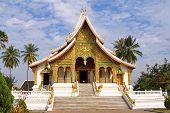 Front View of The Royal Palace (Haw Kham) in Luang Prabang, Laos