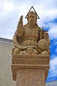 Estatua del Padre Eterno. Presicce. Puglia. Italia.