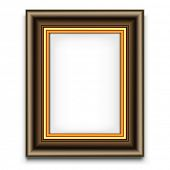 Blank picture frame vector decoration element. Photo template.