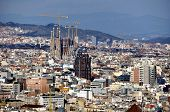 Aerial view of Barcelona (Sagrada Familia)