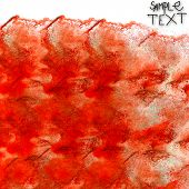 background hand  art watercolour red brush texture isolated