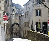 Luxembourg. Small Street Of The Old City.