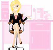 Blonde secretary