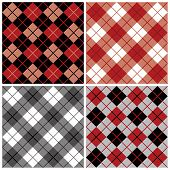 Argyle-Plaid patroon in zwart en rood