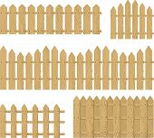 wooden fence vector set