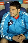 BARCELONA - MAY, 11: Iker Casillas of Real Madrid during the Spanish League match between Espanyol a