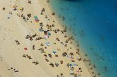 picture of shipwreck  - people at shipwreck beach at Zakynthos island - JPG
