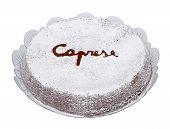 Um bolo típico italiano Torta Caprese