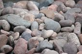 pic of swedish sauna  - Background of stones and rocks. Close up.
