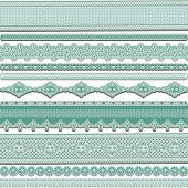 Set of lace ribbons, vector