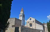 Aquileia basilica and belltower; Italy