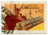 Stamp from Chile Boat
