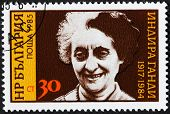 Indira Gandhi Stamp