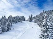 Winter in the swiss alps, Switzerland