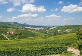 Barolo and La Morra near Asti in Piedmont,Italy