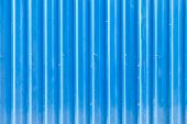 Blue Grooved Metal Texture