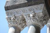 columns in Amalfi Italy