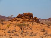 Orange Rock Formation Of Damaraland