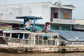 Vietnamese men on the cargo boat