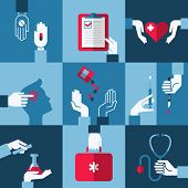 Medical And Health Care Design Elements. Vector Illustration