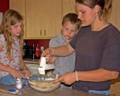 Mom Baking Cookies With Kids