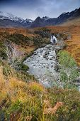 Autumn colours in Cuilin Mountains, Island of Skye, Scotland, Europe