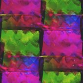 abstract vintage green, pink avant-garde watercolor seamless tex