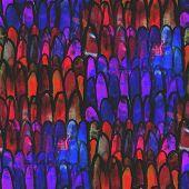 abstract vintage brown, purple avant-garde watercolor seamless t