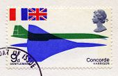 Postage Stamp Celebrating The First Concorde Flight