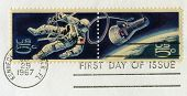 Vintage Us Space Postal Stamps