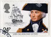 Vintage selo britânico de Lord Nelson