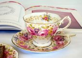 Pink Flowered Teacup