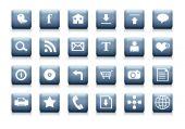 Clean web icon set.