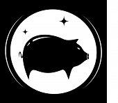 pig silhouette - meat food symbol
