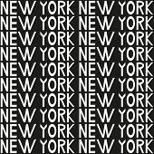 New York Typography Seamless Background Pattern. Vector Illustration