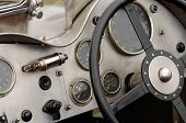 Detail Of A Vintage Racing Car