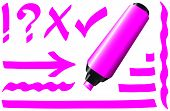Fluorescent Marker Pink