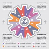 Infographic Concept for Presentaton - internet vector scheme with icons