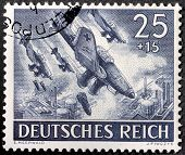 German Bomber Stamp