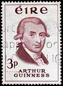 Arthur Guinness Stamp