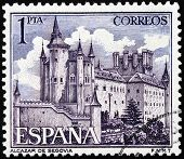Alcazar Of Segovia Stamp