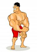 stock photo of valiant  - Art and illustration of a muscular man figure - JPG
