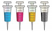 Syringes With Colorful Liquids