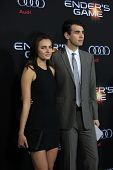 LOS ANGELES - OCT 28:  Alyssa Riley, Nick Simmons at the
