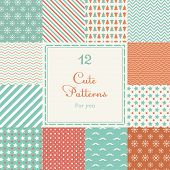 pic of chevron  - 12 Cute different vector seamless patterns  - JPG