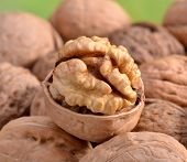 Close-up of walnuts