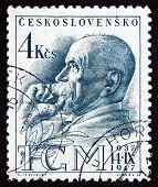Estampilla Checoslovaquia 1947 Tomas Garrigue Masaryk