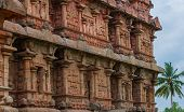 ancient Temple bas-reliefs at the Gangaikonda Cholapuram South India