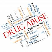 stock photo of methadone  - Drug Abuse Word Cloud Concept Angled with great terms such as addiction heroin disease relapse and more - JPG